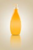 Sunbath oil or sunscreen bottle Stock Image
