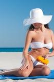 Sunbath protection Stock Photos