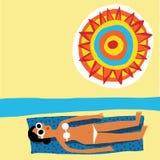 Sunbath woman Royalty Free Stock Photography