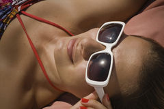 Sunbathe Royalty Free Stock Photography