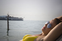 Sunbathe Royalty Free Stock Photos