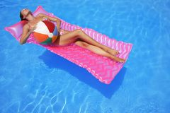 Sunbather Stock Image