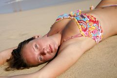 Sunbather Royalty Free Stock Photos