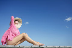 Sunbather Royalty Free Stock Images