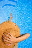 Sunbather From Above Stock Photography