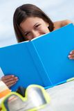 Sunbather with book Stock Photos