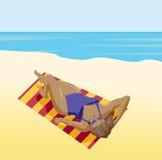 Sunbather-Mädchen Lizenzfreie Stockfotografie
