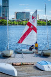 Sunbather - MIT Sailing Pavilion - Cambridge, MA. Since 1935, the MIT sailing pavilion has been where thousands in the Boston area have learned and perfected Stock Photos