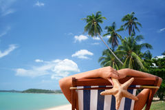 Sunbather tropical Images stock