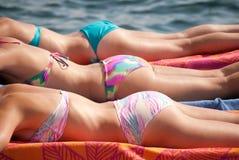 Sunbathers Image libre de droits
