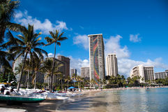 Sunbathers on Waikiki Stock Images