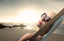 Sunbathing Royalty Free Stock Image