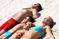 Sunbathing stock image