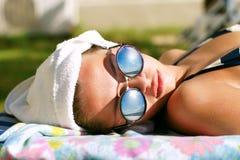 Sunbathing Royalty Free Stock Photography
