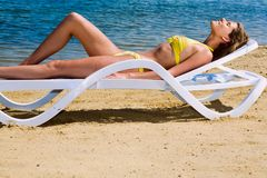 Sunbathing Stock Photography
