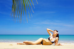 Sunbathing Stock Photo
