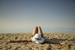 sunbathing Stockbild