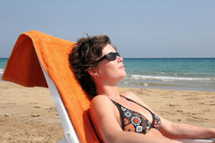 Sunbathing Royalty Free Stock Images