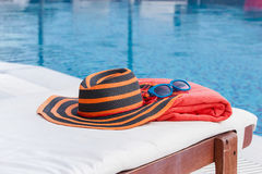 Sunbathing accessories Royalty Free Stock Image