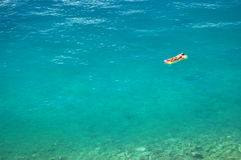Sunbathing on adriatic waters Royalty Free Stock Photos