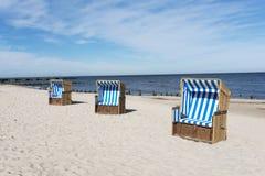Sunbathing baskets Royalty Free Stock Photo