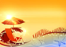 Sunbathing in beach background Royalty Free Stock Photos