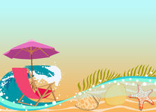Sunbathing in beach background Royalty Free Stock Photography