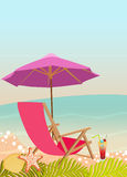 Sunbathing in beach background Royalty Free Stock Image