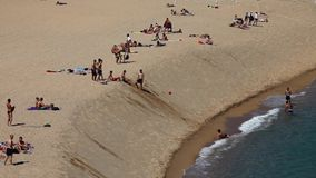 Sunbathing at the Beach stock video