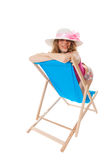 Sunbathing at the beach Royalty Free Stock Image