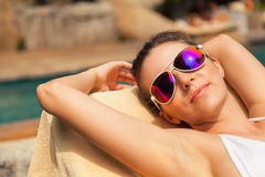 Sunbathing Royalty Free Stock Photography