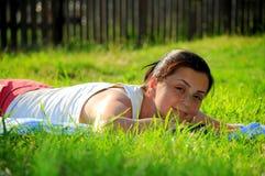 Sunbathing beauty Royalty Free Stock Photos