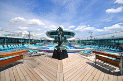 Sunbathing Deck of Legend of the Seas 2 Stock Photos