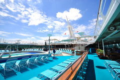 Sunbathing Deck of Legend of the Seas 3 Stock Images