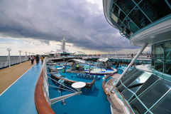 Sunbathing Deck of Legend of the Seas 4 Stock Image