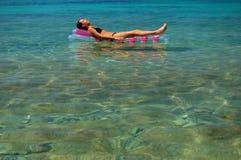 Sunbathing em Croatia Fotografia de Stock
