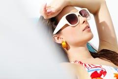Sunbathing girl Stock Photo