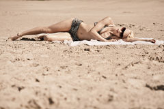 Sunbathing girl Royalty Free Stock Photo