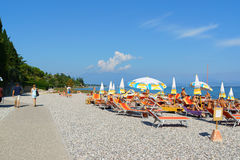 Sunbathing at Lake Garda Stock Photos