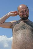 Sunbathing man Royalty Free Stock Photography