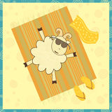 Sunbathing sheep Royalty Free Stock Photo