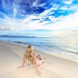 Sunbathing at sunrise Stock Photography