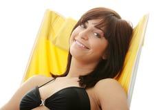 Sunbathing Woman Stock Photo
