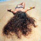 Sunbathing woman Stock Photos