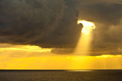 sunbeam океана Стоковое фото RF