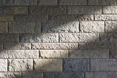 Sunbeam across a stone wall 1 Royalty Free Stock Photography