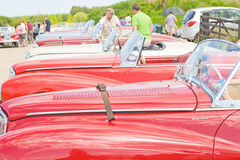 Sunbeam Alpine cars ; National Rally in Inverness. Stock Photo