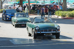 Sunbeam Alpine on display Stock Photography