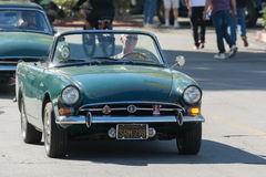 Sunbeam Alpine on display Stock Photos