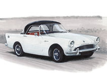 Sunbeam Alpine. Illustration of a Sunbeam Alpine Stock Image